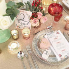 Winter Garden Table Wedding Stationery