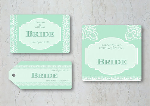 Classic Lace Wedding Place Cards