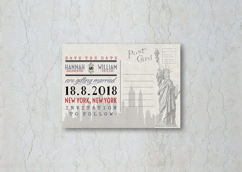 New York Save the Date Wedding Stationery