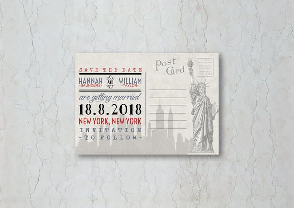 New York Save the Date Wedding Invitation