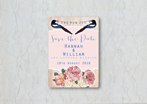 Magpie Save the Date Wedding Invitation
