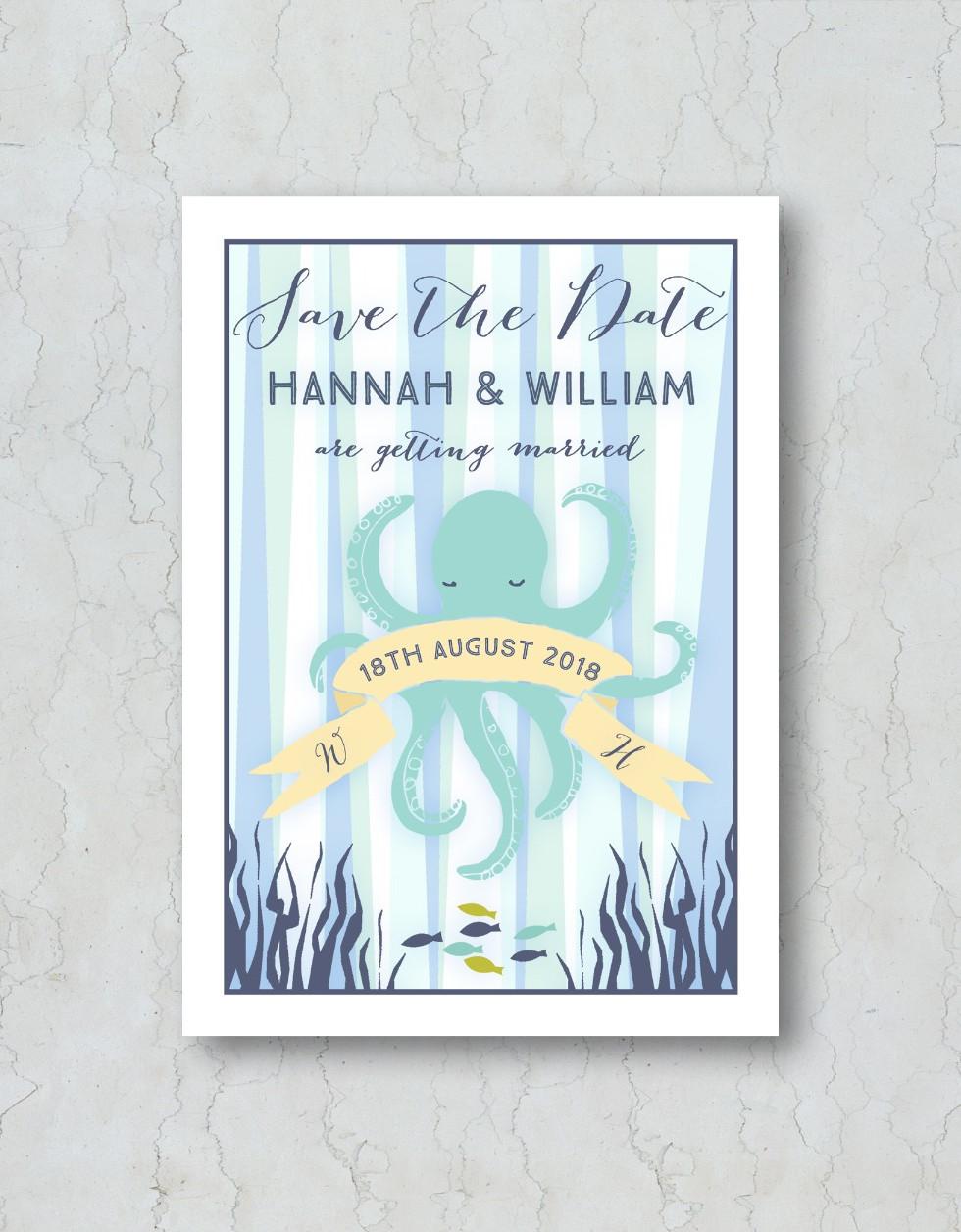 Under the Sea Save the Date Wedding Invi