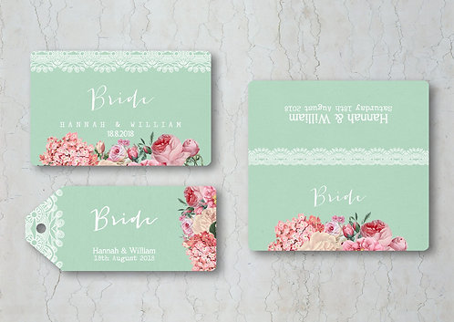 Floral Lace Wedding Place Cards