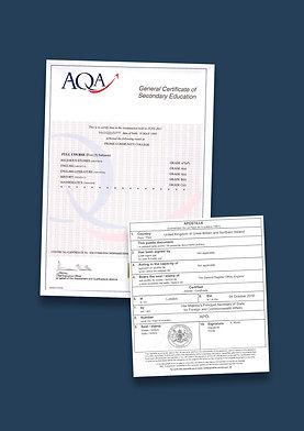 GCSE Certificate Apostille + Options