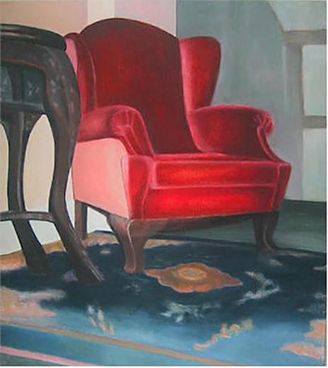 Roter Sessel 2006 Öl/Lw 100x90cm