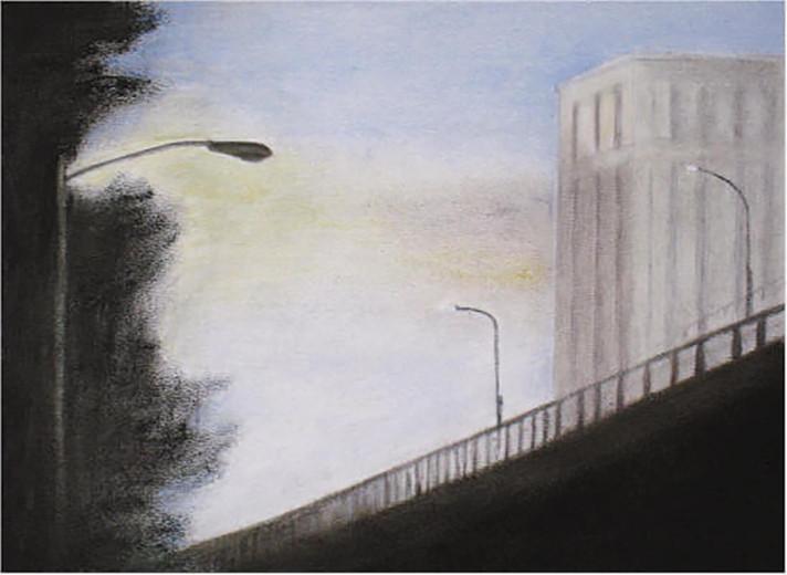 Serie The Bridge 2008 Öl/Malplatte 18x24cm