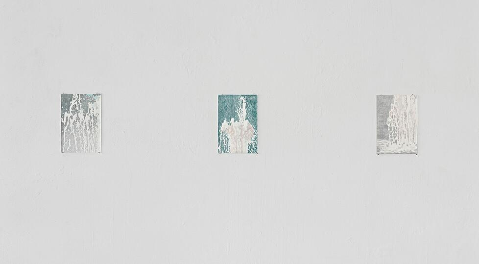 Serie Tennenbacher Platz 2017 Buntstift/Papier je 15x10 cm