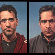 Diptych: Twins (Norm and Alan Qiros)