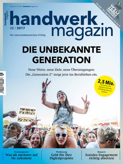 Handwerk Magazin 08/2017 Cover