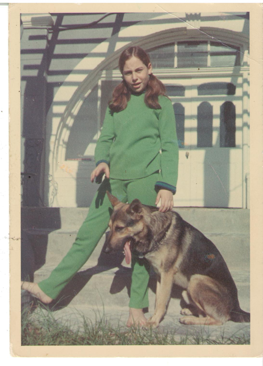 11 year old Jen with her dog Sultan