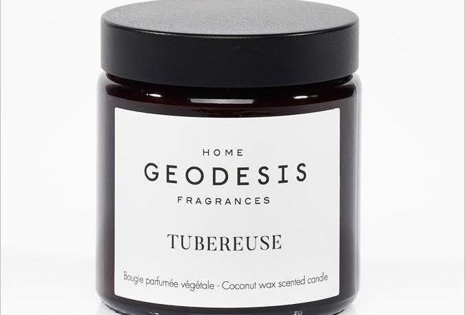 BOUGIE PARFUMEE Tubéreuse, par Géodésis