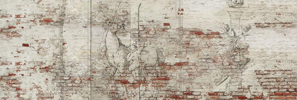 ANTIQUE LETTERS & OLD BRICK WALL par Les Dominotiers