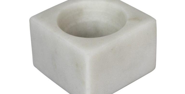 COQUETIER, marbre blanc