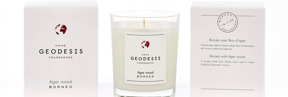 BOUGIE PARFUMEE CLASSIQUE, Agar-Wood, par Géodésis