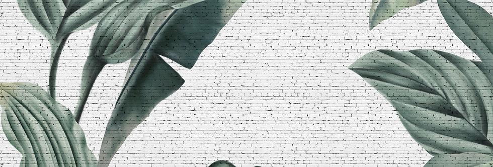 TROPICAL GRUNGE BRICK WALL par Les Dominotiers