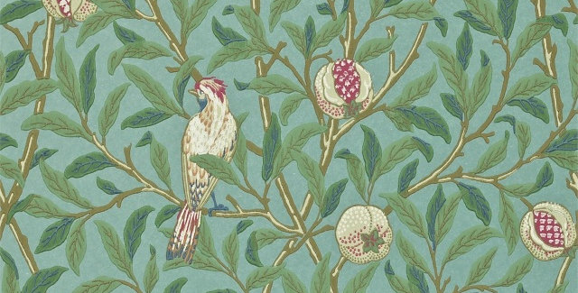 PAPIER PEINT BIRD & POMEGRANATE, par William Morris