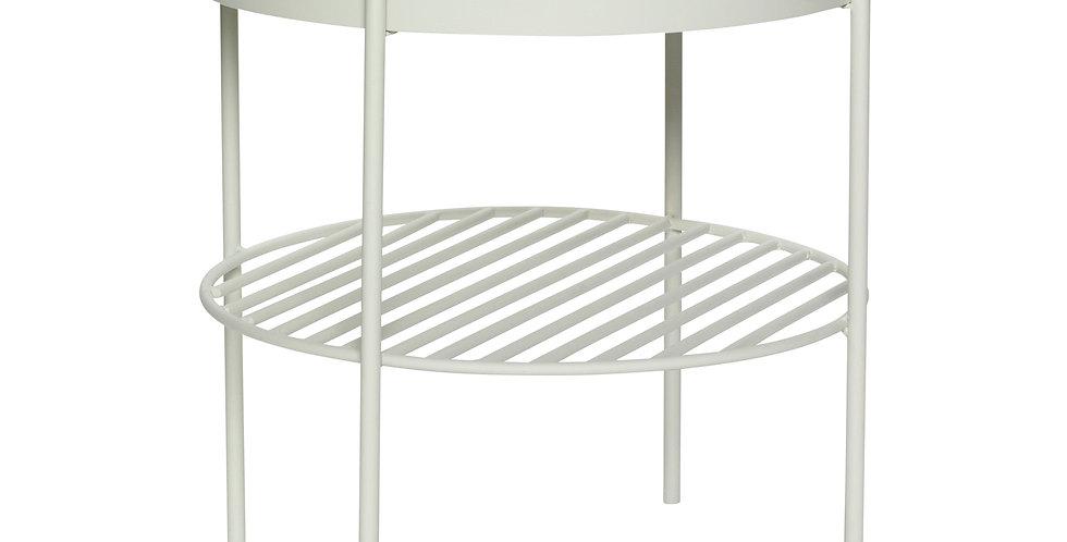 TABLE D'APPOINT en métal gris
