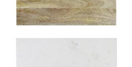 PLANCHE A DECOUPER, marbre et bois