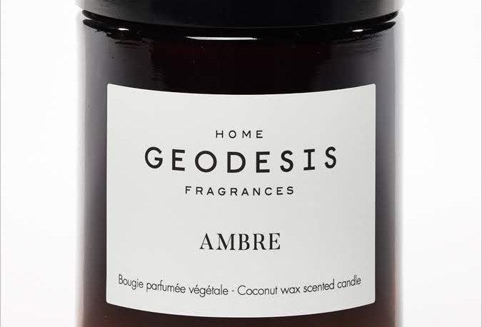 BOUGIE PARFUMEE Ambre, par Géodésis