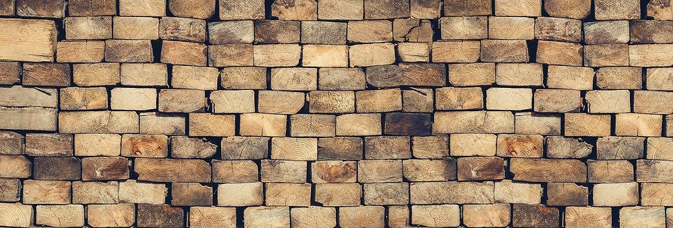 WOOD BLOCKS WALL par Les Dominotiers