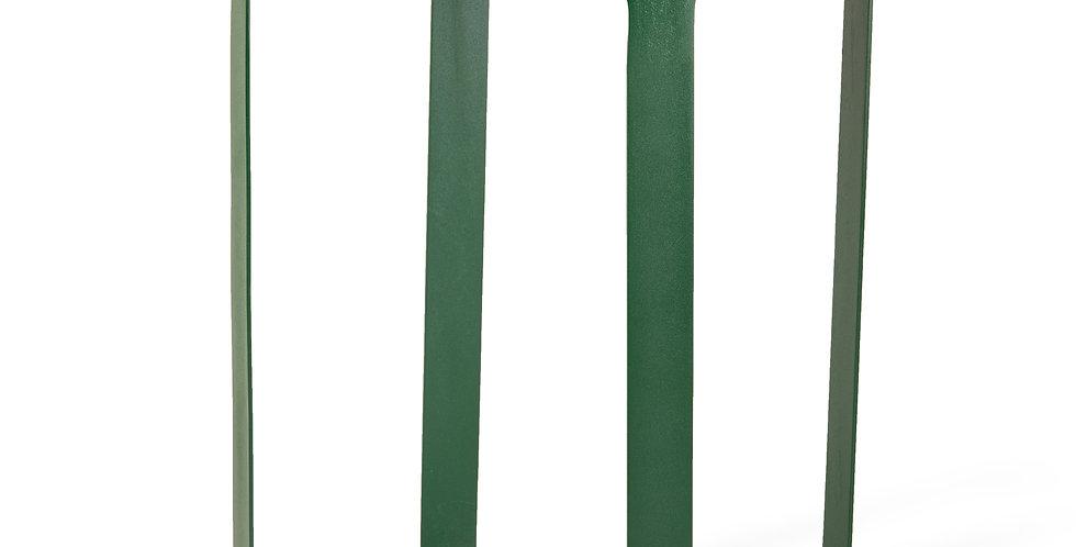 TABLE D'APPOINT, métal et marbre vert