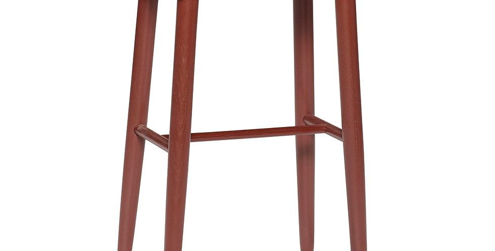 TABOURET, bois peint