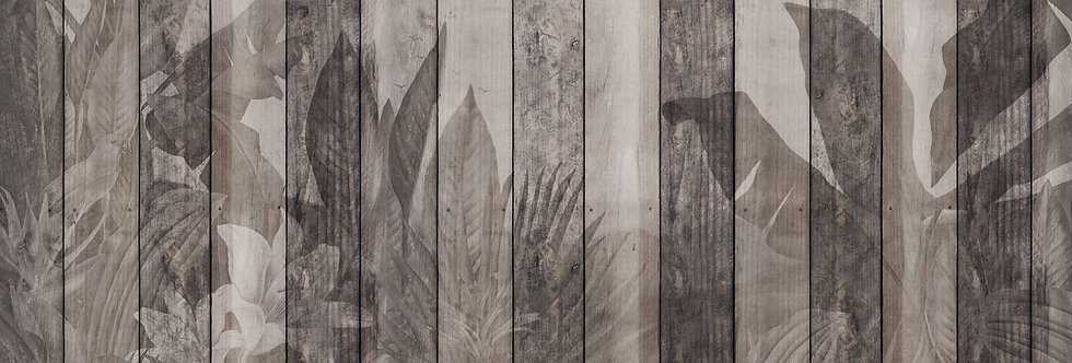 TROPICAL DARK WOOD WALL par Les Dominotiers