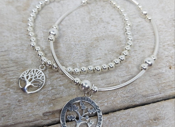 Benny&Moo double stacking set. Family tree and one family charms