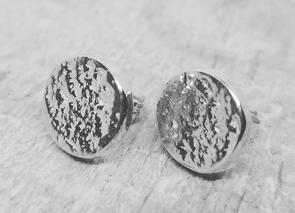 Ashes to Silver Memorial circular earrings