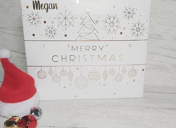 Personalised 12 Days Children's Charm Bracelet Advent Calendar