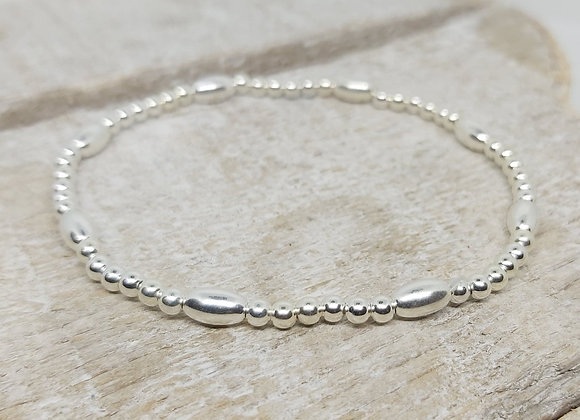 Benny&Moo seed and 4mm sterling silver bracelet