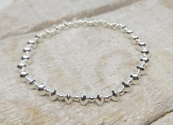Benny&Moo rondelle and 3mm sterling silver bracelet