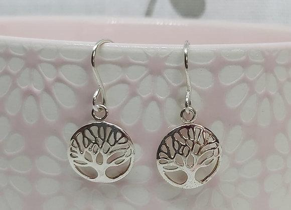 Family Tree - Tree of Life Drop Earrings in Sterling Silver
