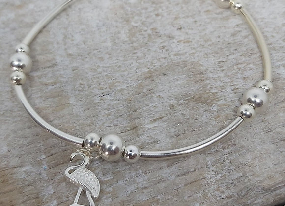 Benny&Moo Noodle bead bracelet with flamingo charm