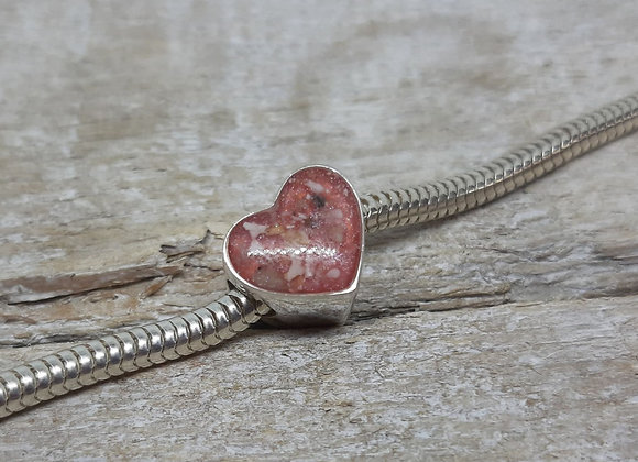 Sterling Silver Creamation ashes Heart Charm