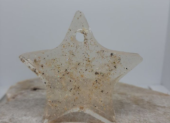 ASHES MEMORIAL STAR HANGING CHRISTMAS DECORATION