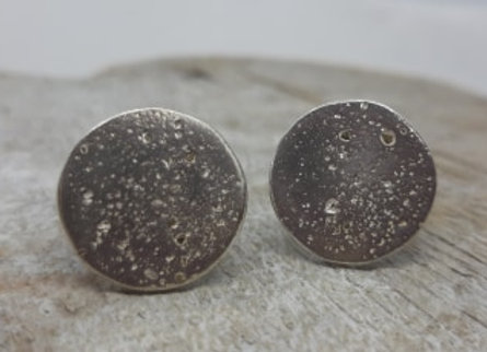 Ashes to Silver Memorial Sterling SilverToggle Cufflinks with Circular ashes