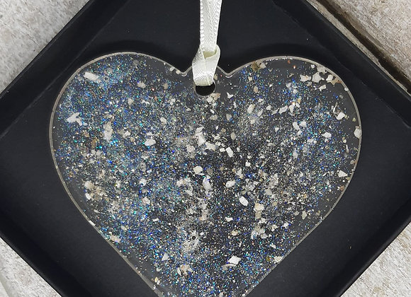 ASHES MEMORIAL HEART HANGING CHRISTMAS DECORATION