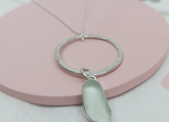 Anglesey Sea Glass necklace with Sterling Silver necklace