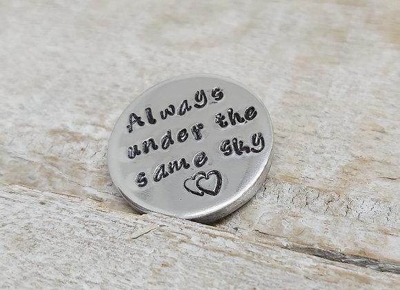 'Always Under the same sky' chunky gift token