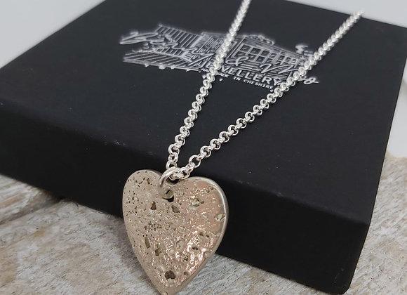 Ashes to Silver Memorial Heart Pendant