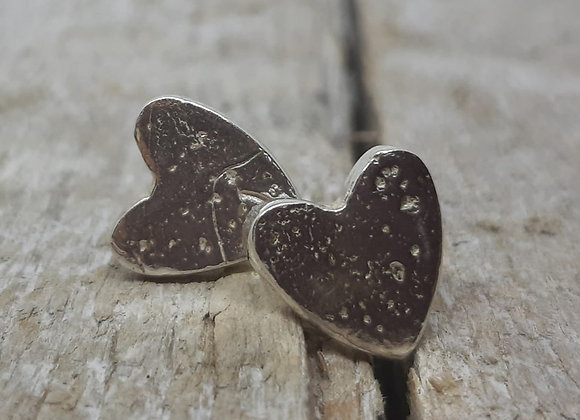 Ashes to Silver Memorial heart earrings