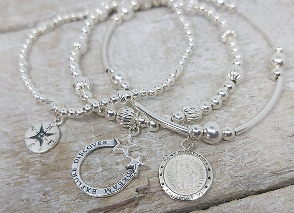 Benny&Moo 'Discovery' sterling silver triple stacking set