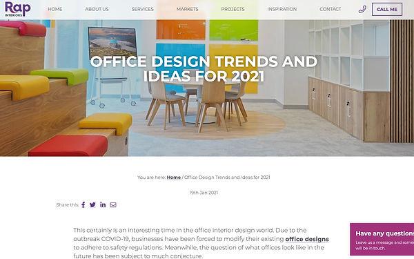 Office Design Trends and Ideas 2021 Rap
