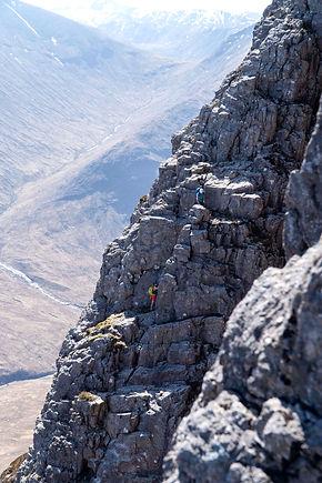Curved Ridge, Buachaille Etive Mor, Omega Guiding