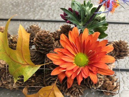 Fun Floral Arrangements with Fall Leaves