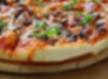 mushroom, olive and onion pizza