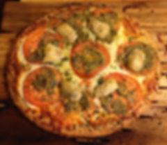 Cedar Smoked Ricotta Cheese and Tomato Pizza