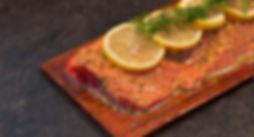 Honey Glazed Salmon on a Plank
