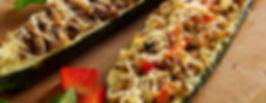 Cherry/Maple Plankd Stuffed Zucchini